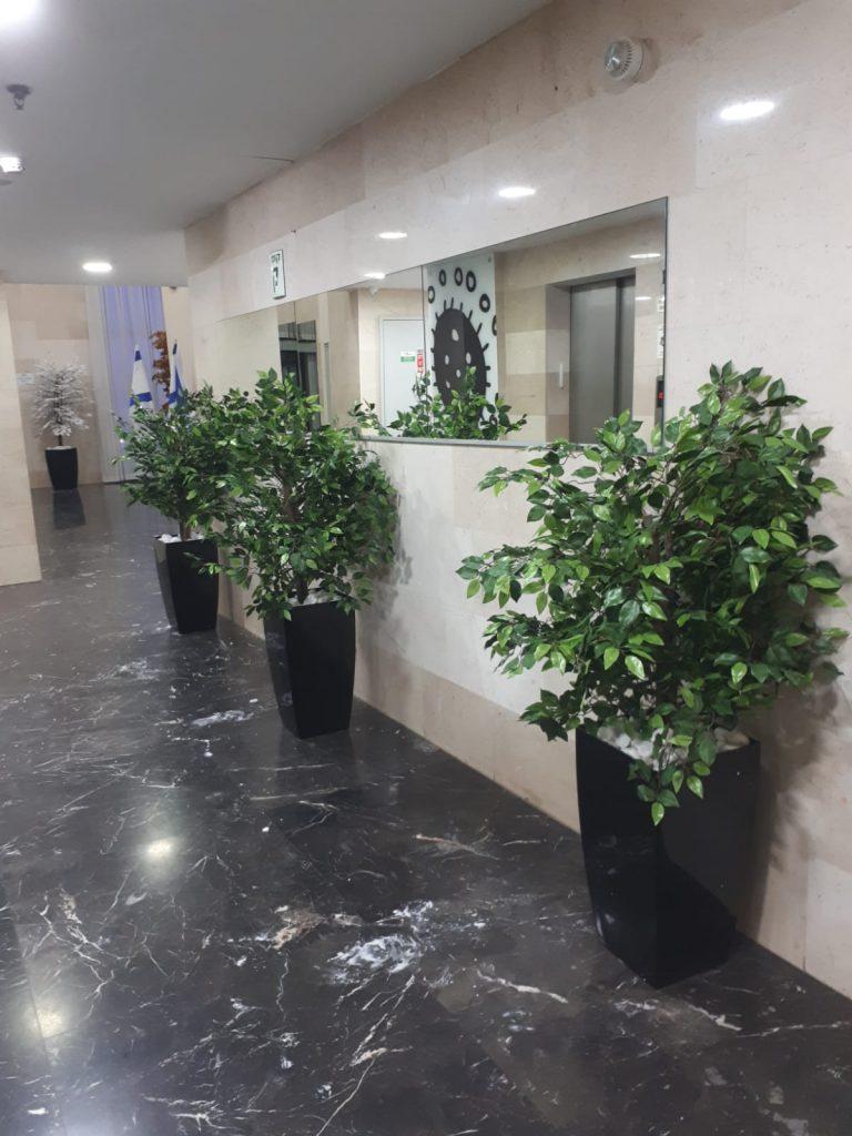 צמחיה מלאכותית ללובי בניין