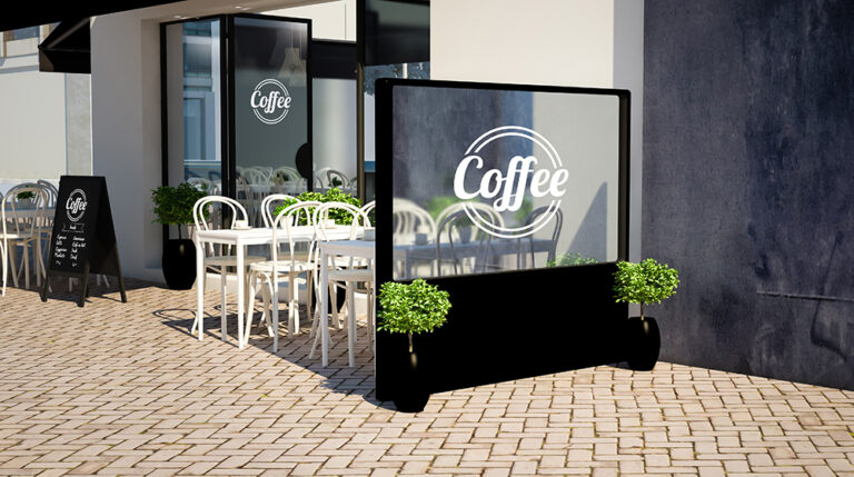צמחייה מלאכותית לבתי קפה