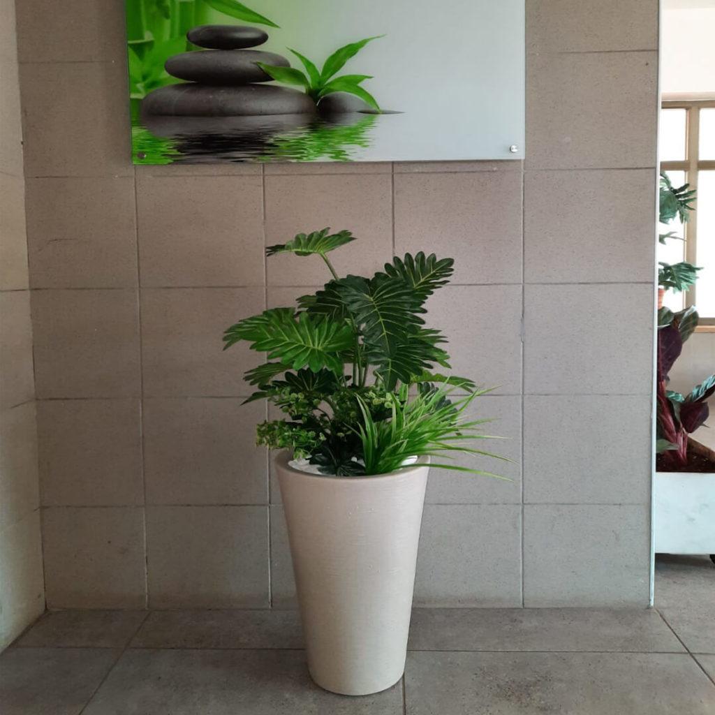 קוקטייל צמחים בכד עגול